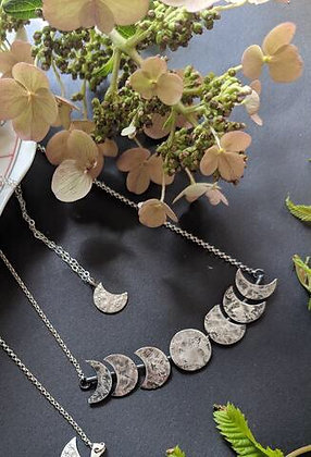 WORN BY WARRIORS- sterling silver lunar phases