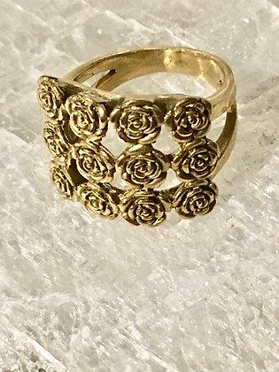 TAMARA STEINBORN 'Damask' Sterling or Bronze Dozen Roses Ring