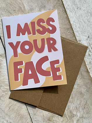 KATUSHA CO. 'Miss Your Face' Card CR39