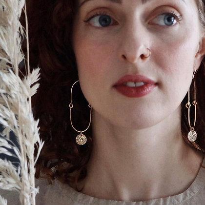 SOUVENIR 'Hinged Hoops' Brass Earrings SVE18