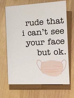 Missing Your Face greeting card