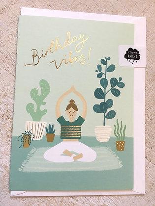 Good Vibes Yoga 🧘♀️ Birthday 🥳 Card CR52