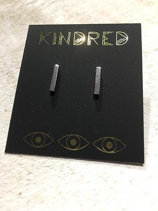 KINDRED sterling bar post earring