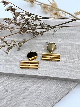 FRÜG Brass Bar Post Earrings FE25