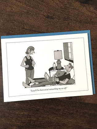 NEW YORKER Working Hard(ly) Greeting Card