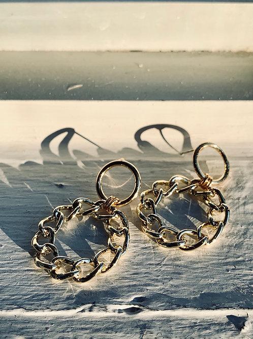 Chain Loop Earrings FEA21