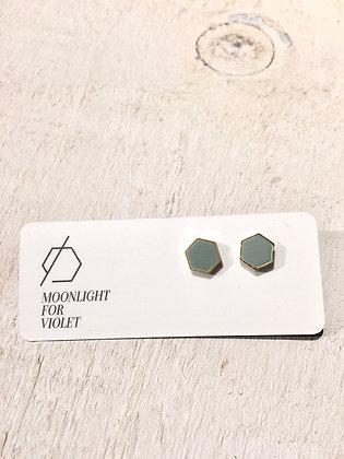 MOONLIGHT FOR VIOLET 'Sage' Geometric Earrings MVG02