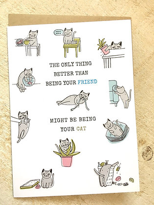 Being your Cat 😽 Birthday Card 🥳 CR56
