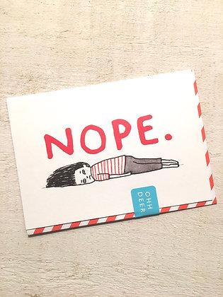 Nope greeting card
