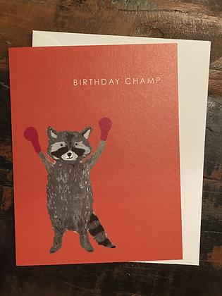 Birthday Champ card