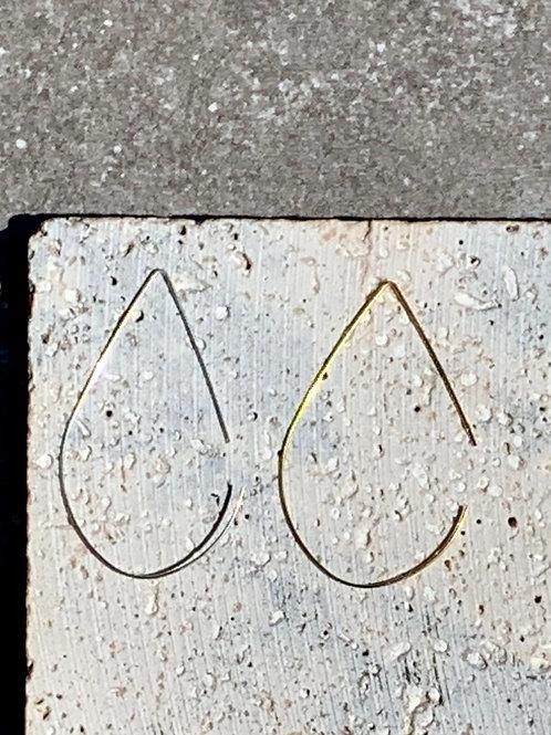 Brass or Silverplate Teardrop Earrings