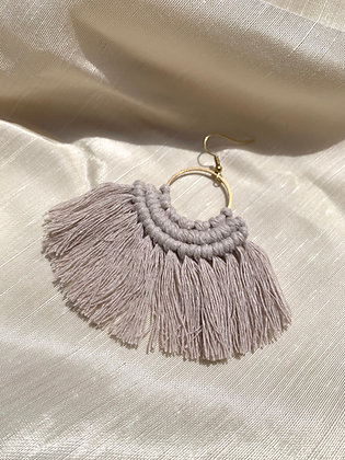 KNOT YOU KNOT ME 'Grey' Stella Fringe Earrings KYE02