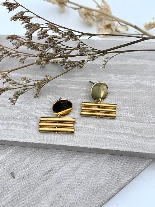 Brass Bar Post Earrings FE25