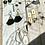 Thumbnail: Black Tassle Loop Earrings FEA45
