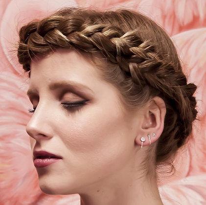 SARASWATI 'Una Earrings' Sterling + Moonstone SWE10