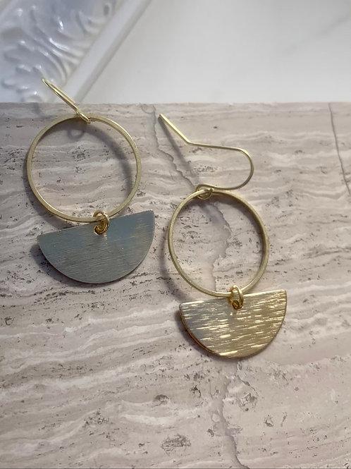 >>>GABIAN - brass loop earrings<<<