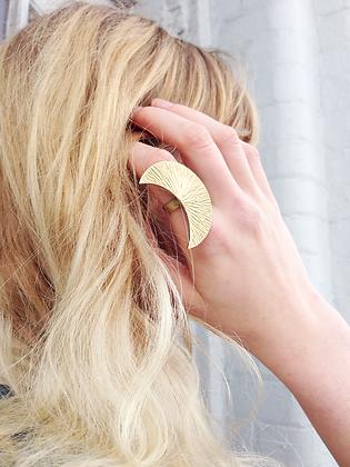 "TAMARA STEINBORN ""Lucretia' Bronze or Sterling Crescent Moon Ring"