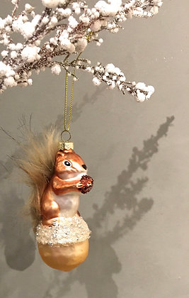 Christmas tree ornament glass squirrel decoration Wellington west