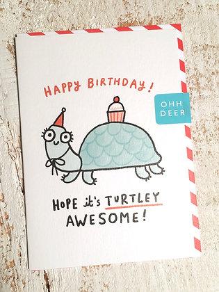 GEMMACORRELL 'Turtley Awesome' Birthday Card CR03