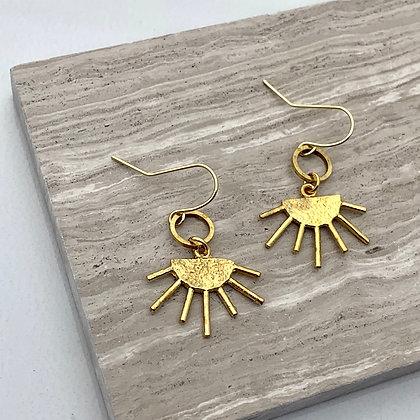 FRÜG Brass Sunrays Earrings FEA42
