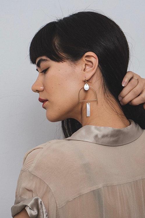 'Eir' Mother of Pearl Earrings FE42