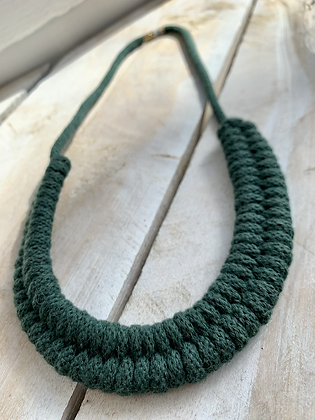 KNOT YOU KNOT ME 'Dark Green' Cam Fiber Necklace KYN08