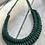 Thumbnail: KNOT YOU KNOT ME 'Dark Green' Cam Fiber Necklace KYN08