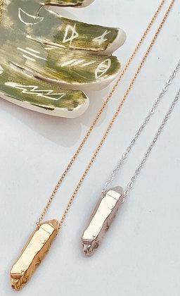TAMARA STEINBORN 'Shard' ~ Quartz Shard Necklace in Bronze or Sterling