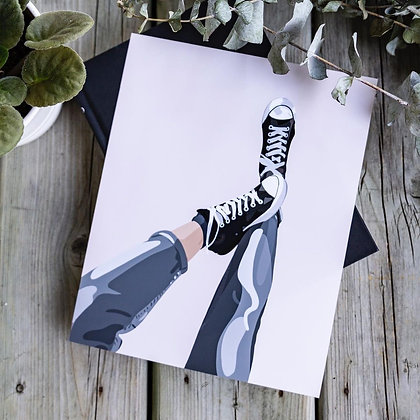 LIVVING CREATIVELY Sneakers 8 x 10 Print