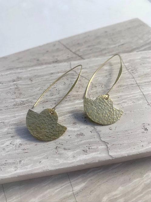 Hammered Brass Earrings FE18