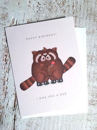 DEARHANCOCK 'Owe Hug' Birthday Card CR25