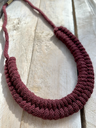 KNOT YOU KNOT ME 'Deep Red' Cam Fiber Necklace KYN10