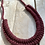 Thumbnail: KNOT YOU KNOT ME 'Deep Red' Cam Fiber Necklace KYN10