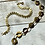 Thumbnail: Circular Link Vintage Brass Bracelet FBA32