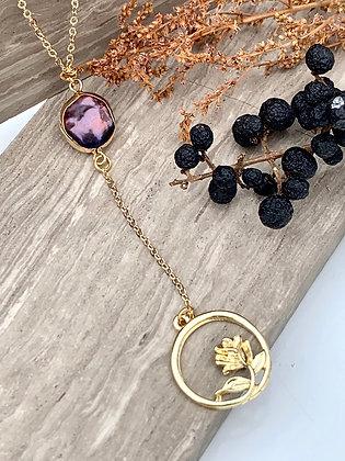 FRUG 'Einar' Freshwater Pearl & Goldplate Rose Necklace