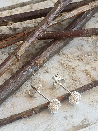 STERLING Silver  Knot Post Earring
