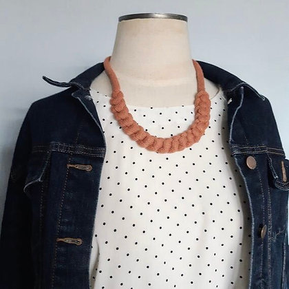 KNOT YOU KNOT ME 'Pale Rust' Dolan Fiber Necklace KYN01