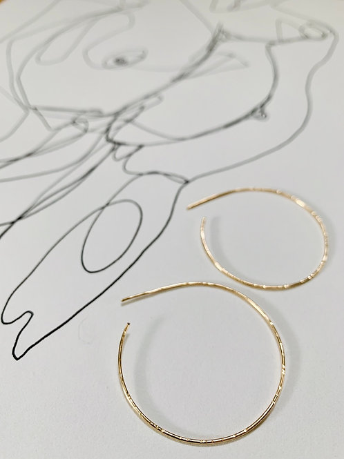 AINE ~ 14k Goldfilled or Sterling Hoop Earrings