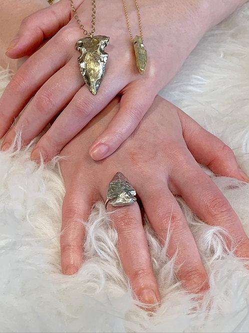 NIRVANA ~ Arrowhead Ring in Bronze or Sterling