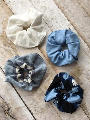 Made in Ottawa scrunchies hair accessory linen hair tie elastic