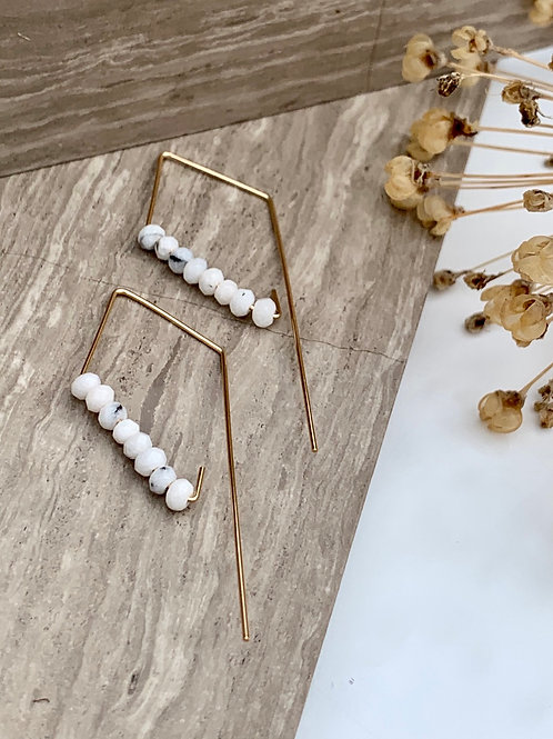 MAGNAR - Faceted Howlite Earrings