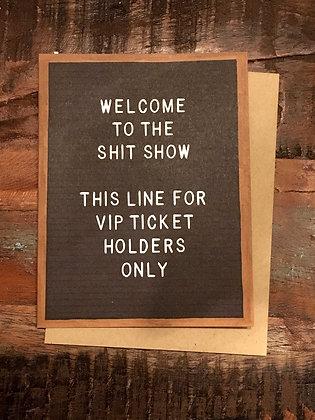 EMILYMCDOWELL 'Shit Show' Greeting Card CR15