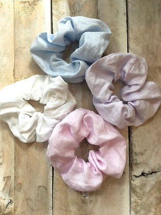 shop hand made linen scrunchies in Ottawa Wellington West-Westboro-Hintonburg