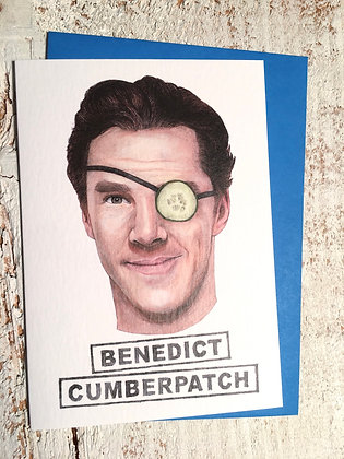 Benedict Cumberpatch greeting card