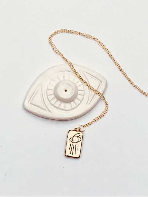CASSANDRA ~ Eye with Rays Necklace in Bronze or Sterling