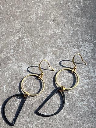 FRÜG Modern Minimalist Brass Earrings FEA60