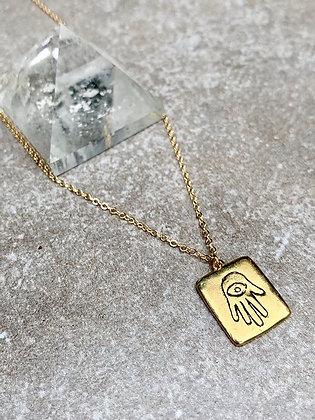 TAMARA STEINBORN DURGA ~ Hamsa Hand Necklace in Bronze or Sterling