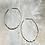Thumbnail: Hammered Oval Hoop Earrings FEA53
