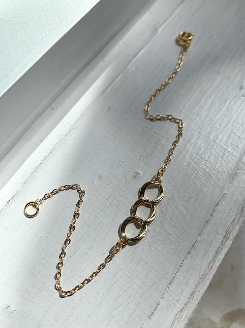 Three Loop Necklace or Bracelet  FNA88SET