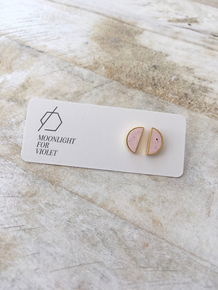 MOONLIGHT FOR VIOLET 'Pink Granite' Semicircle Earrings MVS05